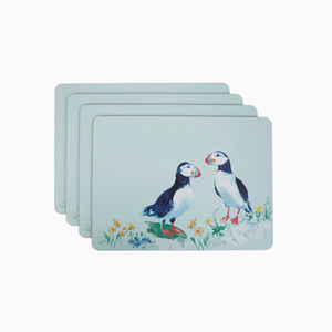 퍼핀 플레이스매트세트  PUFFIN CORKBACK PLACEMATS SET OF 4